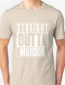 STRAIGHT OUTTA MORDOR Unisex T-Shirt