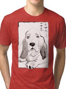 Hound in Japanese Ink Wash Tri-blend T-Shirt
