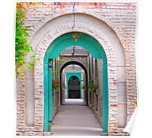 The Pathway of Arches Poster