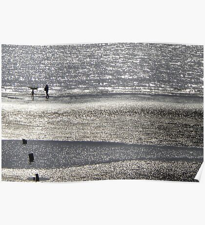 Sparkling beach - Wales Poster