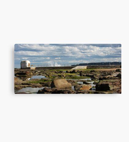 Merewether At Low Tide - Panorama Canvas Print