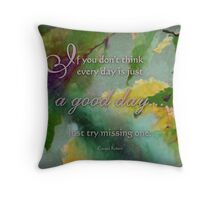 a good day -wisdom saying 1 Throw Pillow