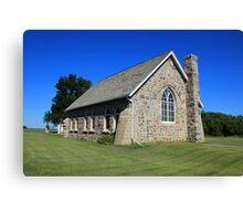 Stone Church on the Prairies Canvas Print