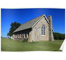 Stone Church on the Prairies Poster
