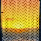 Sunset Through The Gate by paintingsheep