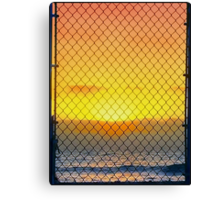 Sunset Through The Gate Canvas Print