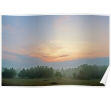 Meadow at Dawn Poster