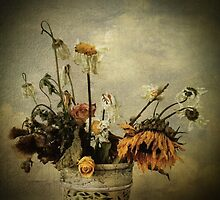 Still Life with Daisies & Sunflower by Donna Devine