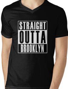 Straight Outta Brooklyn Mens V-Neck T-Shirt