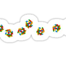 Rubic Cube T-Shirt Sticker