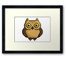 8-Bit Owl Framed Print