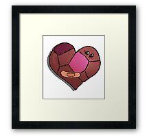Patch heart Framed Print