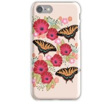 Swallowtail Florals by Andrea Lauren  iPhone Case/Skin