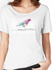 Watercolor drawing of cute bird Women's Relaxed Fit T-Shirt