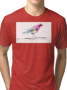 Watercolor drawing of cute bird Tri-blend T-Shirt