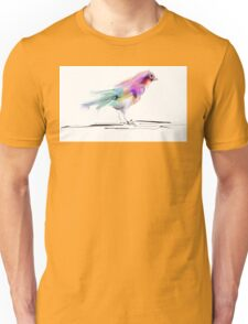 Watercolor drawing of cute bird Unisex T-Shirt