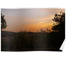 Sunset over the Dordogne Vally Poster