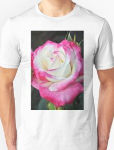 Pink and white rose Unisex T-Shirt