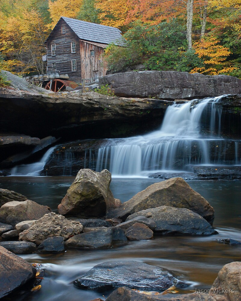Fall on Glade Creek Gristmill by Jason Vickers