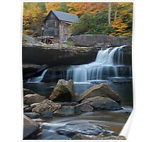 Fall on Glade Creek Gristmill Poster