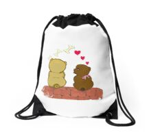 Snooze in love Drawstring Bag
