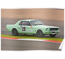 Green 1965 Ford Mustang Poster