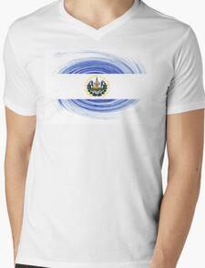 El Salvador Twirl Mens V-Neck T-Shirt