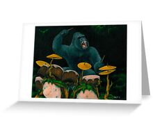 Gorilla Jungle Drums Greeting Card
