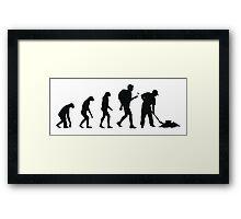 Evolution Geocaching Framed Print