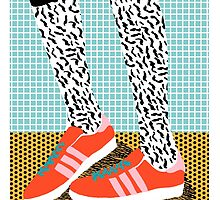 Spiffy - shoes art print memphis design style modern colorful california socal los angeles brooklyn hipster art pattern  by wackadesigns