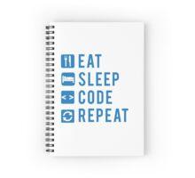 Eat Sleep Code Repeat BLUE Spiral Notebook