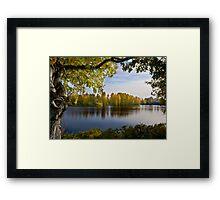 River Oulujoki, autumn Framed Print