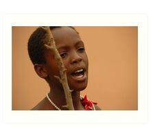 Swaziland girl Art Print