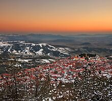 Livadi village after sunset by Hercules Milas