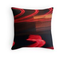 Streaks of Red Throw Pillow