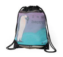 I'm So Happy - Penguin - Urban Art Drawstring Bag