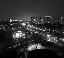 Paddington Station at night by lendale