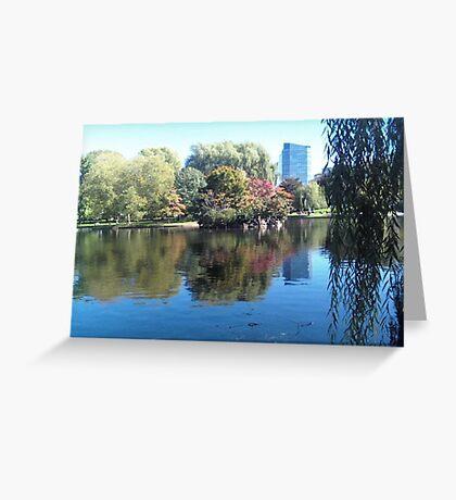 Water on Boston Greeting Card