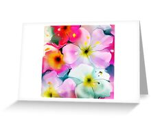 Bunch of flowers. Watercolor Greeting Card