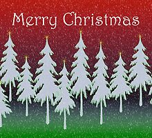 Red Forest Christmas card by bicyclegirl