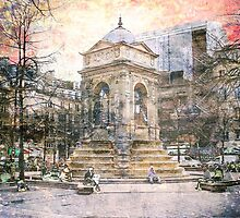 Parisian Mosaic - Piece 27 - Fontaine des Innocents by Igor Shrayer