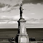 Captain Cook Statue black and white (whitby) by lendale