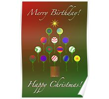 Merry Happy Holi~Bday card!! Poster