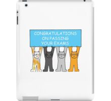 Congratulations on passing your exams. iPad Case/Skin