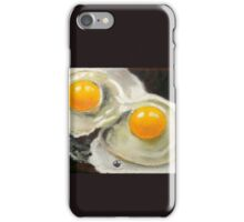 Raw Eggs, Oil Pastel Still Life, Realism, Egg Yolks iPhone Case/Skin