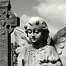 Angel and Irish cross by Esther  Molin