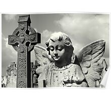 Angel and Irish cross Poster