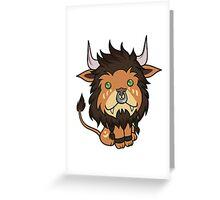 Tan Feral Druid Greeting Card