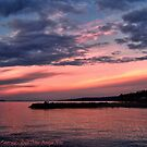 Pink Sunset over Puget Sound by rocamiadesign