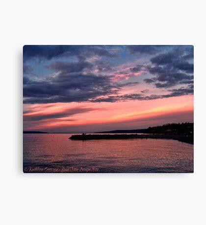 Pink Sunset over Puget Sound Canvas Print